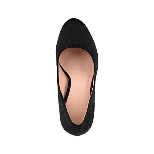 Elara Damen Pumps | Bequeme High Heels | Vintage-Style | Abendschuh Trendy | Chunkyrayan | E22360 Black-37 - 6