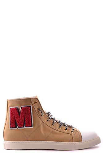 Marc Jacobs Herren Mcbi19768 Braun Stoff Hi Top Sneakers