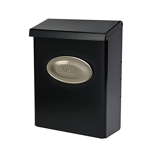 SOLAR GROUP DVK00000 VERTICAL STYLE LOCKING WALL MOUNT MAILBOX  BLACK BY SOLAR GROUP (ENGLISH MANUAL)