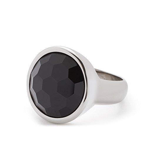 Leonardo Jewels Damen Ring Celeste Edelstahl Glas schwarz 016343