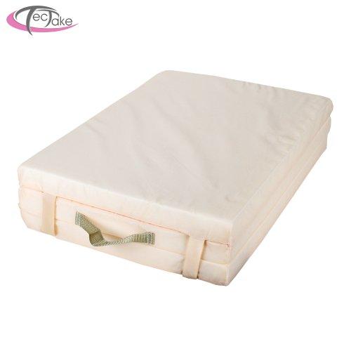 Imagen principal de TecTake Colchón para cuna de bebé para viaje 120 x 60 cm beige