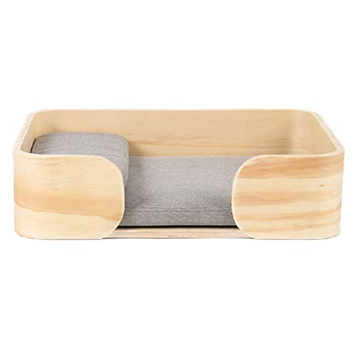 Mochila Caja de madera de la cama del gato Cama de la mascota del perro de la litera del gato de la...