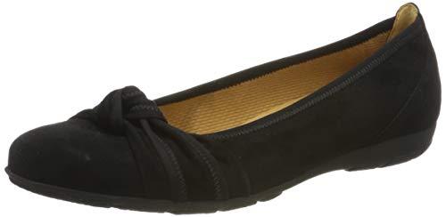 Gabor Shoes Damen Gabor Casual Geschlossene Ballerinas, Schwarz (Schwarz 17), 42 EU (Casual Schuhe Frauen)