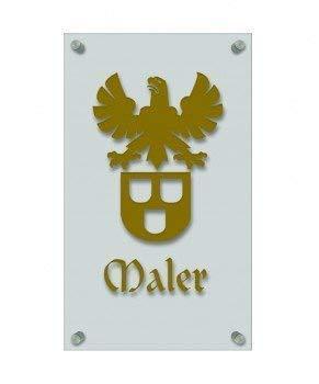 werker-Zeichen, edle Acryl-Kunststoff-Platte mit Beschriftung - Maler - in gold, silber, schwarz oder weiß - 309448 Farbe gold ()