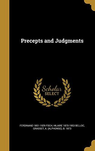 Precepts and Judgments
