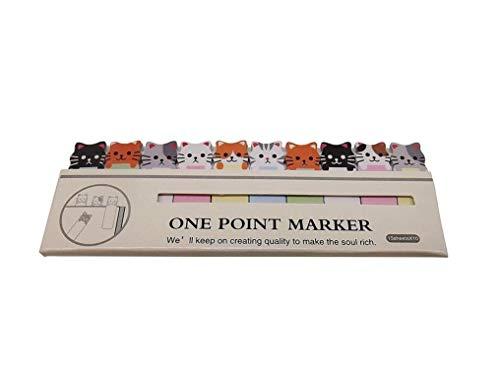 Vektenxi Premium-Qualität Convenience Cartoon Sticker Lesezeichen Memo Post Tab Haftnotizen Marker Briefpapier-Cute Cats