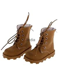 Alcoa Prime Khaki Casual Nubuck Leather Lace Up Boots Shoes For 1/3 BJD SD Dress Up ACCS