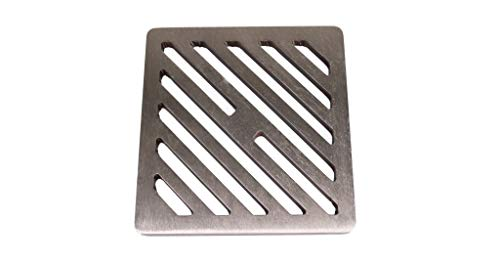 6 inch Square Stainless Steel solid metal steel Gully Grid Heavy Duty Drain Cover grate like cast iron, stronger by Lakeland Steel Ltd