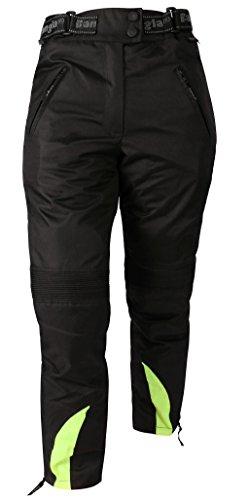Ledershop-online Bangla 1263 Damen Motorradhose Tourenhose Textil Cordura 600 schwarz-neongelb L