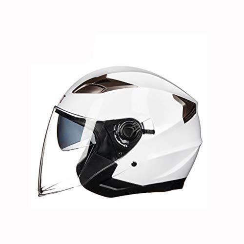 Preisvergleich Produktbild Helm,  Motorrad Elektroauto Helm Vier Jahreszeiten Universal Männer und Frauen Sicherheit Hut (Farbe : B,  größe : L)
