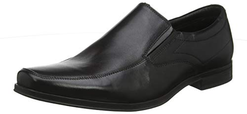 Hush Puppies Billy, Mocasines Hombre, Negro Black