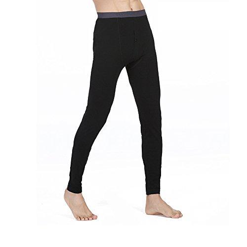 Nykkola, pantaloni termici da uomo, calzamaglia lunga, pantaloni ideali per l'inverno, in campeggio e come abbigliamento per sciare, taglie: da l ad xxxl, 4 colori, xgpants-black-xl, nero , xl