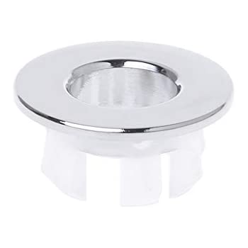 Bath Hardware Sets Bathroom Basin Sink Overflow Ring Six-foot Round Insert Chrome Hole Cover Cap Clients First