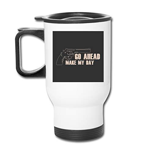 Sudden Impact Clint Eastwood Filmzitat 450 ml Edelstahl doppelwandig Vakuum-Kaffeebecher mit spritzwassergeschütztem Deckel für heiße und kalte Getränke (Impact Kalte Tasse Design)