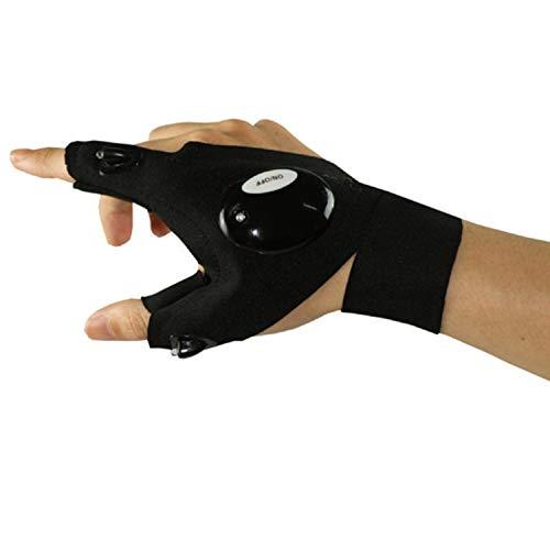 Handschuh Outdoor-sportarten LED Handschuh Nachtsicht Ansicht Angeln Laufen Fixierung Scheinwerfer Reparatur Lampe Taschenlampe Taschenlampe Lite Fingerless ( Size : L , Style : Right hand ) Taschenlampe Scheinwerfer Scheinwerfer