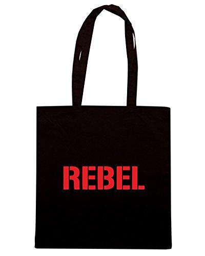 T-Shirtshock - Borsa Shopping OLDENG00618 rebel Nero