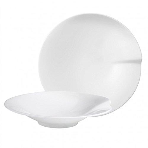 Villeroy & Boch Pasta Passion Pastateller L, 2er-Set, 30,5 cm, Premium Porzellan, Weiß