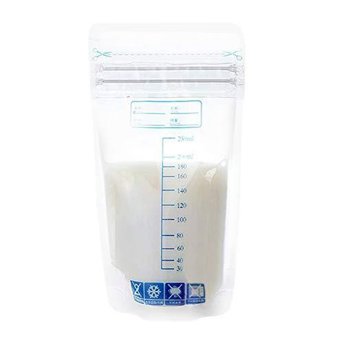 Bolsas Leche Materna para el Almacenamiento Pre-Esterilizadas - Bolsas de Ahorro de Leche Materna a Prueba de Fugas-Libre de BPA-Contenedores de Leche (30 Unidades 250ml)
