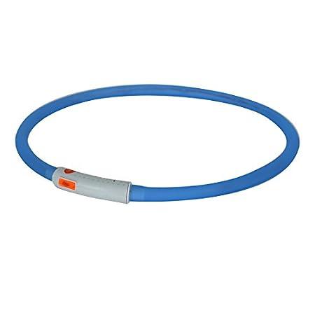 2-TECH LED Visio Leuchthalsband Deluxe für Hunde und Katzen universell kürzbar, Halsumfang bis 55 cm