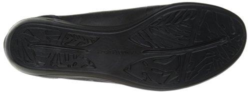 Hush Puppies Valoia Oleena Cuir Chaussure Plate Black