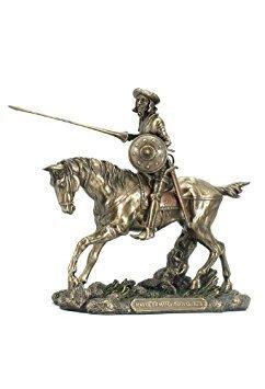Venta-Don Quijote en caballo estatua Escultura