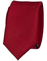 LUCIO LAMBERTI Corbata bebè slim corbata niño burdeos color sólido VB45