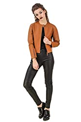 Texco Tan Quilted Leather Biker Jacket