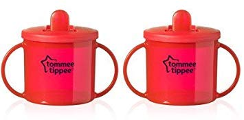 Tommee Tippee Primera Taza - Pack de 2 (2X Rojo)