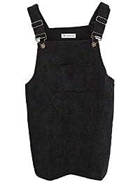 fc53f1aa1e7 World 2 home Drop Shipping 2017 Women Elegant Pockets Suspender Skirt  Corduroy Sleeveless Overalls Skirts Korean
