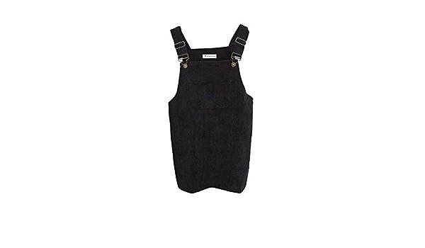 74b49b5c763 World 2 home Drop Shipping 2017 Women Elegant Pockets Suspender Skirt  Corduroy Sleeveless Overalls Skirts Korean Fashion Autumn  Amazon.in   Industrial   ...