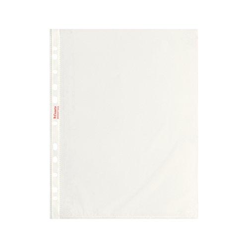 Esselte Buste a perforazione Copy Safe Standard, Trasparente, Formato 22 x 30 cm, Porta documenti, In PP antiriflesso, Confezione da 200 buste, 395697300