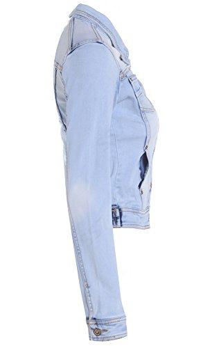 SS7 NEU Damen Jeansjacke STONEWASH blau Größe 8 10 12 14 16 - Hellblau, 44 - 3