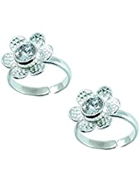 Style A Bit Sterling Silver Toe Ring Set For Women TOE008