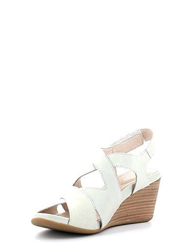 Stonefly 104254 Glace Larme Chaussures Femmes Sandales Compensées de la Peau Bianco