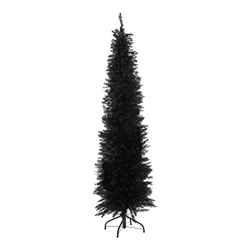 the christmas workshop 6ft black slim line artificial christmas tree