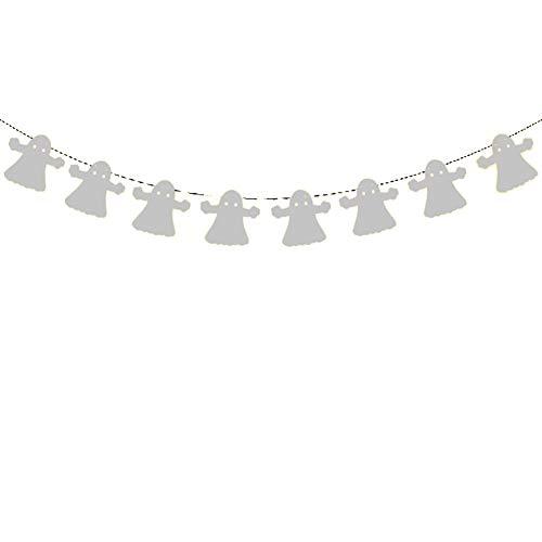 pel Geist Stoffgirlande Wimpelkette Bunting Farbenfroh Vliesstoff Wimpeln für Kinderzimmer & Baby Geburtstage Hochzeit Dekoration Dreieck Flagge - Weiss ()
