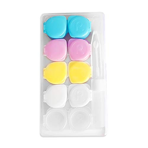 enbehälter Weiche Linsen Hoch Reise Candy Farbe 5 Paare Von Sätzen Von Boxen Linsenbehälter Pflegelösung Behälter Kontaktlinsen-Etui Multifunktions (eins für Verkauf) ()