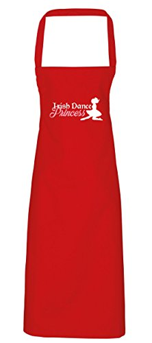 hippowarehouse Irish Dance Princess Schürze Küche Kochen Malerei DIY Einheitsgröße Erwachsene, rot, Einheitsgröße (Riverdance Kostüm)