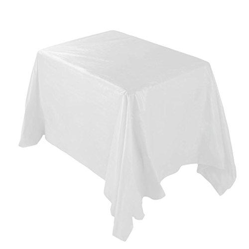 Sansee Tischdecken Küchentextilien Wasserdichte Oilproof Plastiktischdecken Tischdecke Abdeckung Party Catering Veranstaltungen Geschirr (Beige, 137 * 274 CM)