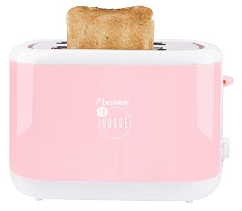 Bestron ATS300EVP Toaster Rosa En Vogue by Thomas Rath, 930 W
