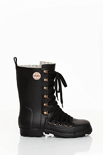 Nokian Footwear by Julia Lundsten - Gummistiefel -Lace-up Biker- (Originals) [LUB125] Schwarz