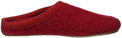 HaflingerClassic - Pantofole non imbottite donna Rosso (rosso)
