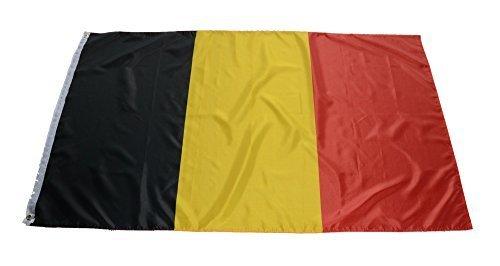 Flaggenking Belgien Fahne, schwarz, gelb, rot, 90 cm x 150 cm