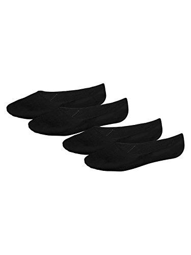 Schiesser Herren Invisible Sneaker 156072, Schwarz, 43/45