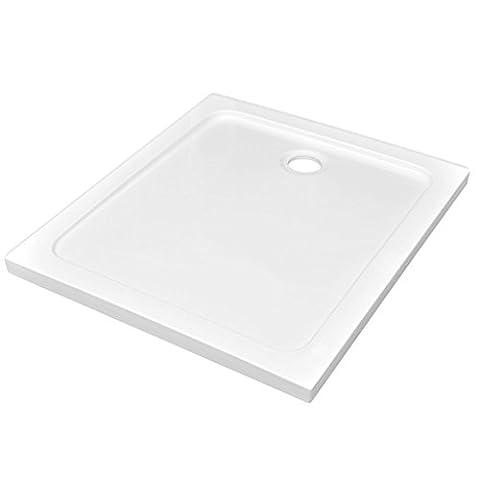 Douche 80 X 90 - vidaXL Receveur de douche ABS rectangulaire blanc