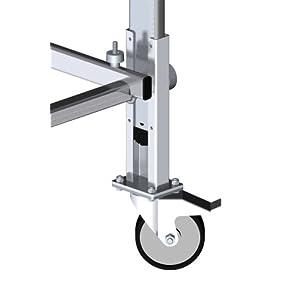 Hailo 9942-101 – Juego de 4 ruedas con freno de fijación para andamio Hailo 9900-101
