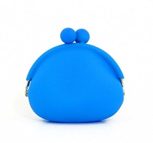 Custodia in silicone portafoglio portafoglio blu