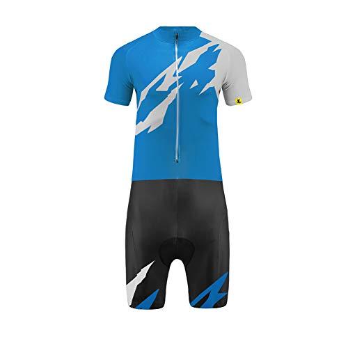 Uglyfrog Skinsuit Cyclisme Manche Courte Maillot de Cyclisme 3D Gel Rembourré Shorts Cuissard Complet Vêtements de Bicyclette Serré Respira