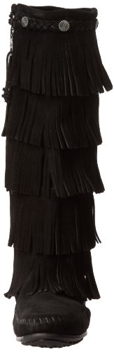 Minnetonka 165, Bottes Indiennes Femme Noir (Black)
