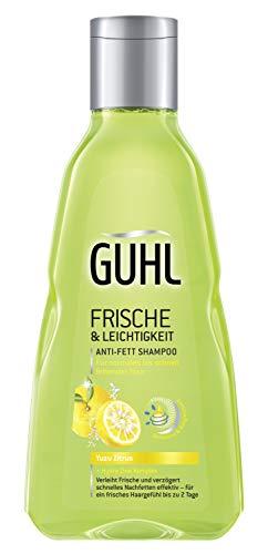 Guhl Frische und Leichtigkeit Anti-Fett-Shampoo mit Yuzu-Zitrus - für normales bis schnell fettendes Haar, 4er Pack (4 x 250ml)